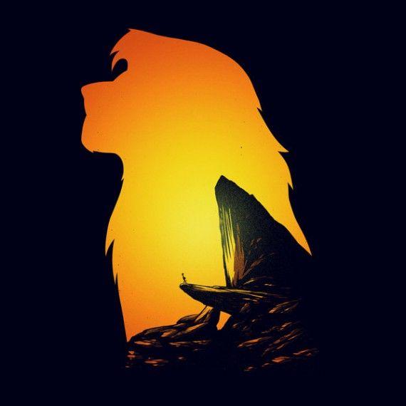 Affiches silhouettes de Khoa Ho - Simba