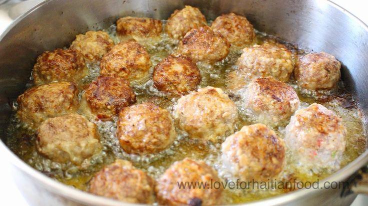 ❤️ Love For Haitian Food: Boulèt (Haitian Meatballs) #HaitianFood #HaitianCuisine #Haiti #Ayiti #Food
