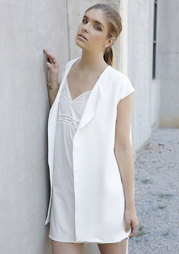 Ivory Silk Vest. miQue Summer '14/15. Available online to order! www.miquethelabel.com Tess Everett Photography.