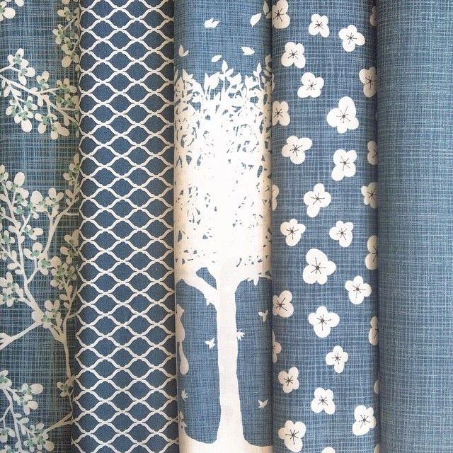 Blues and whites from Autumn Woods - Kate & Birdie for Moda Fabrics