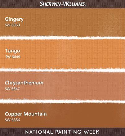 Warm Orange Paint Colors Sherwin Williams