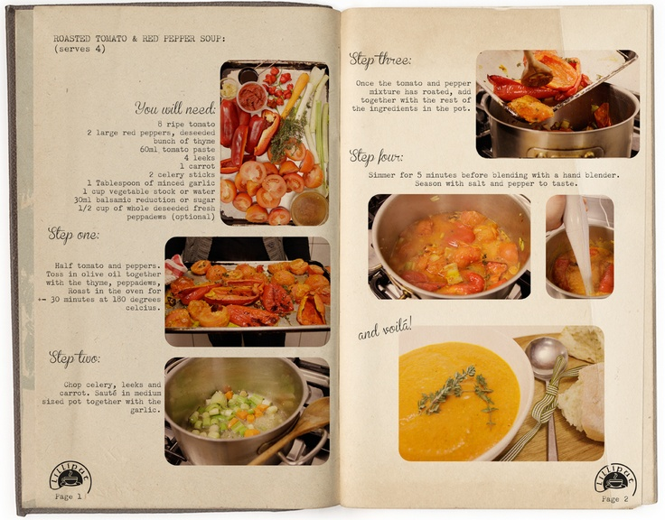 Roasted tomato and red pepper soup: Serves 4. Print this yummy recipe out and make it at home it is very easy.