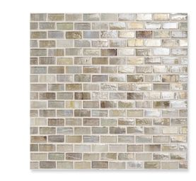 Sonoma Tilemakers ANNICA ~ Iridescent | 1/2 x 1 1/4 Sold by the sheet only Sheet Size: 12 3/4 x 12 1/4