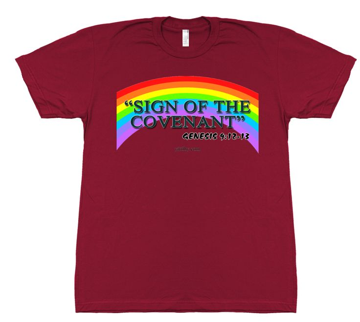 Rainbow Covenant T Shirt by Yittiby designs