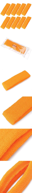 Mallofusa 10 PCS Cotton Sports Basketball Headband / Sweatband Head Sweat Band/brace Gift Party Outdoor Activities (Orange)