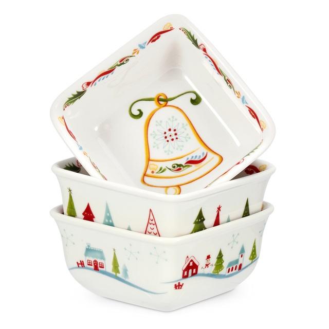 Christmas Wish Square Mini Dishes  Set at Ocado