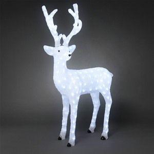 Konstsmide 6166-203 LED Acrylic Christmas Reindeer - 130cm