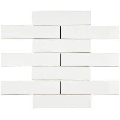Merola Tile Metro Soho Subway Glossy White 1 3 4 In X 7 3
