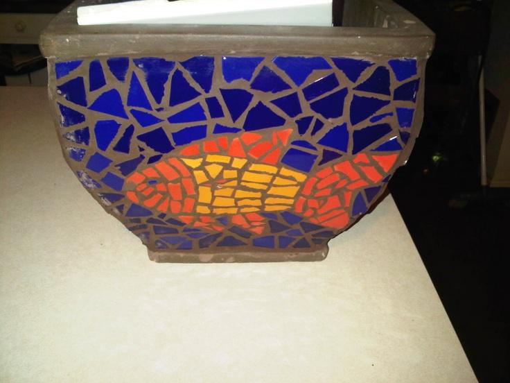 my first mosaic pot