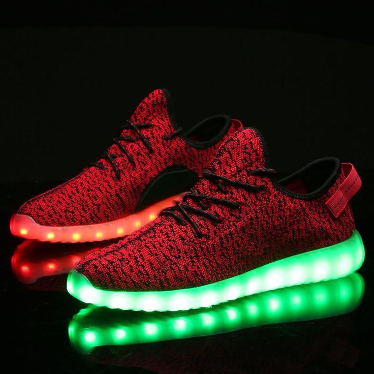 New Unisex Fashion LED Light Lace Up Sportswear Sneaker Casual Shoes