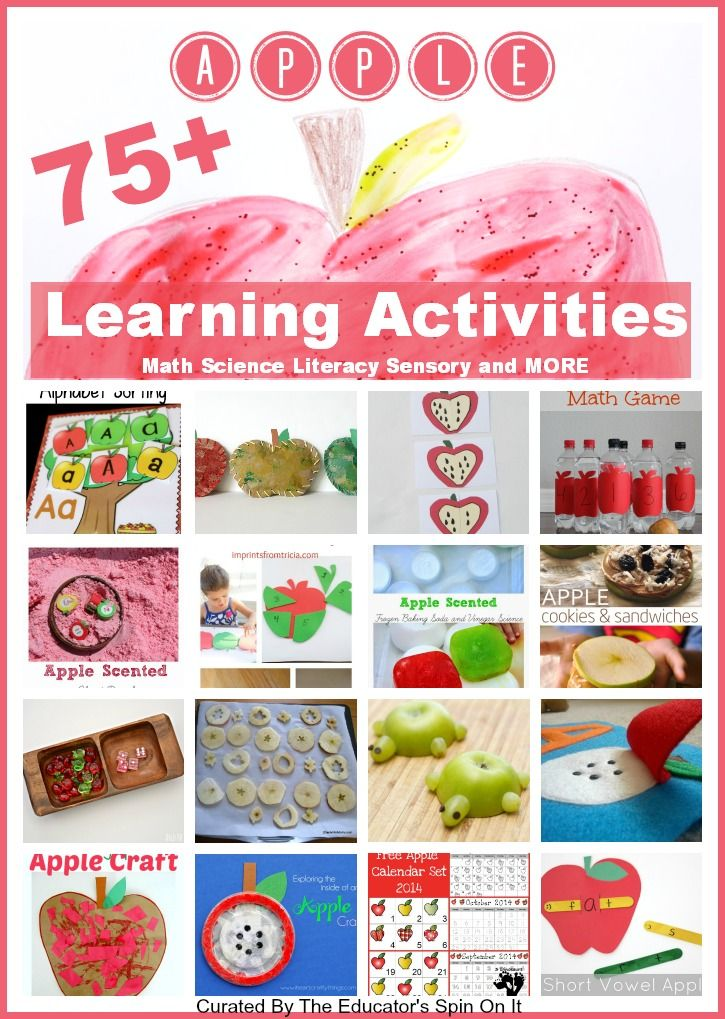 Apple Learning Activities for Apple Math, Apple Science, Apple Literacy and More. Great for Parents, Teachers, and Homeschooling