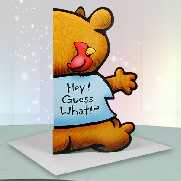 Big Birthday Hug Jumbo Card. Hey! Guess What!. Think Of this card as a big birthday hug... | Rs. 220 | Shop Now | Card Size : Height :47 cm X Length : 29 cm. | https://hallmarkcards.co.in/collections/shop-all/products/teddy-bear-shape-birthday-cards