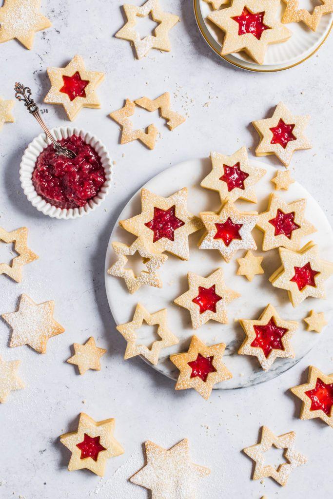 Christmas Linzer Cookies Recipe Cute Food Cookies Linzer