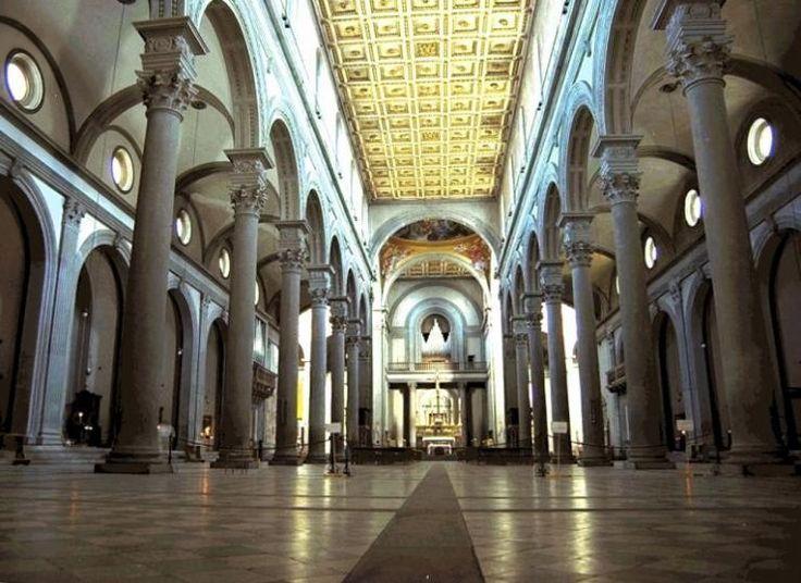 Iglesia de san lorenzo brunelleschi 1422 1470 for Interior iglesia san lorenzo brunelleschi