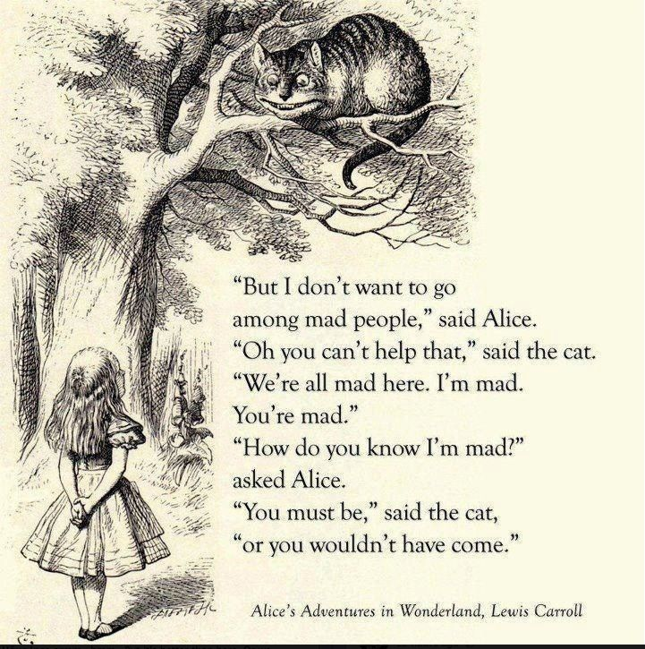 Alice In Wonderland Mad Hatter Quotes: Alice In Wonderland Quotes Lewis Carroll