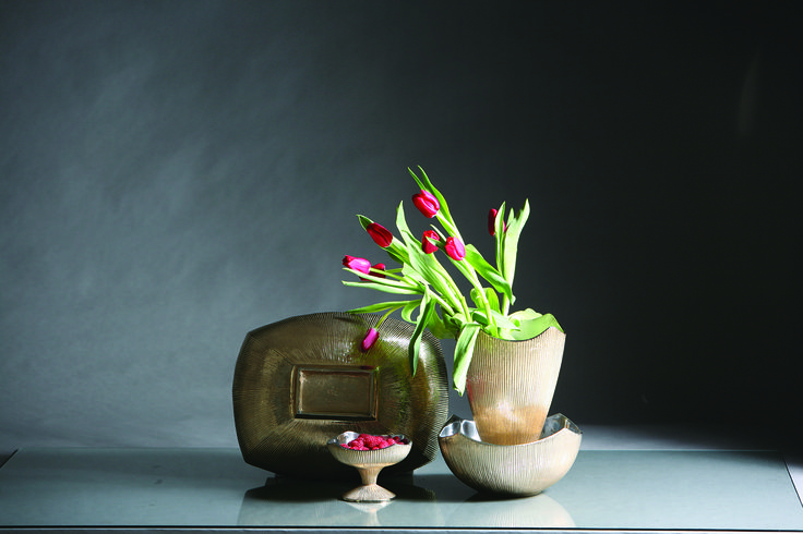 From the New Japonesque Collection - Miyake bowls, pedestals, pots and more from Nima Oberoi Lunares.