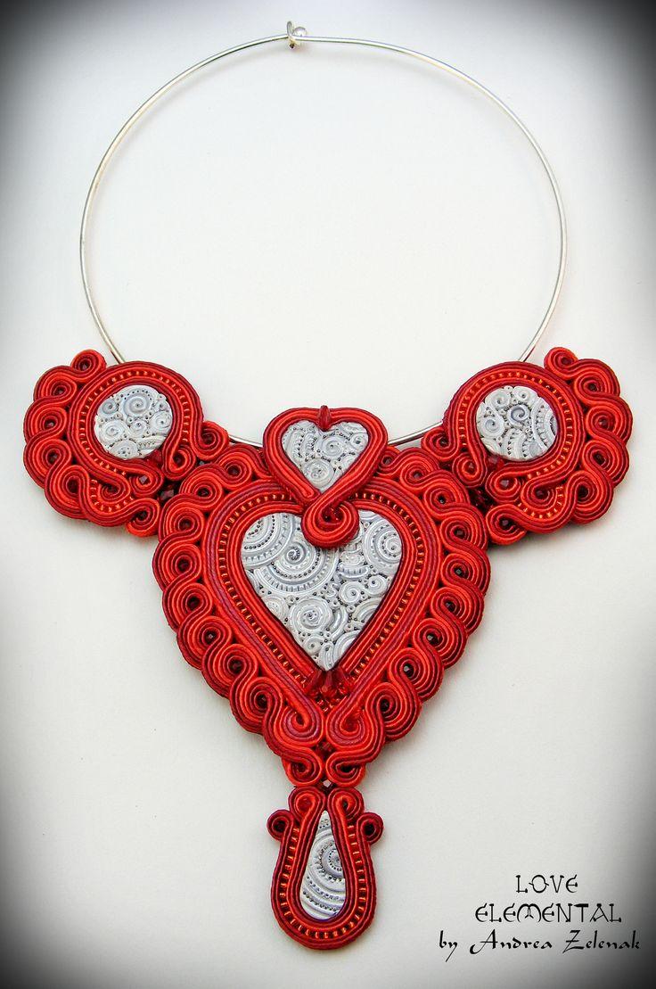 Soutache necklace - Love - Andrea Zelenak