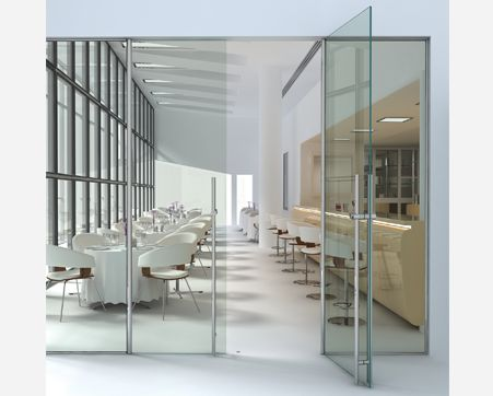 14 best images about glass doors on pinterest nyc miami and glass room for Frameless interior glass doors