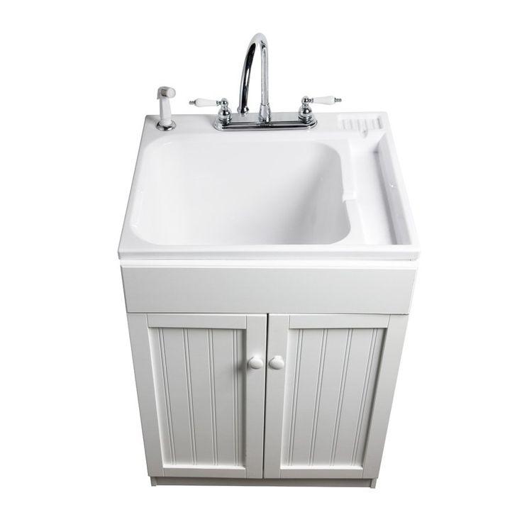 Asb polypropylene utility tub in white lowes