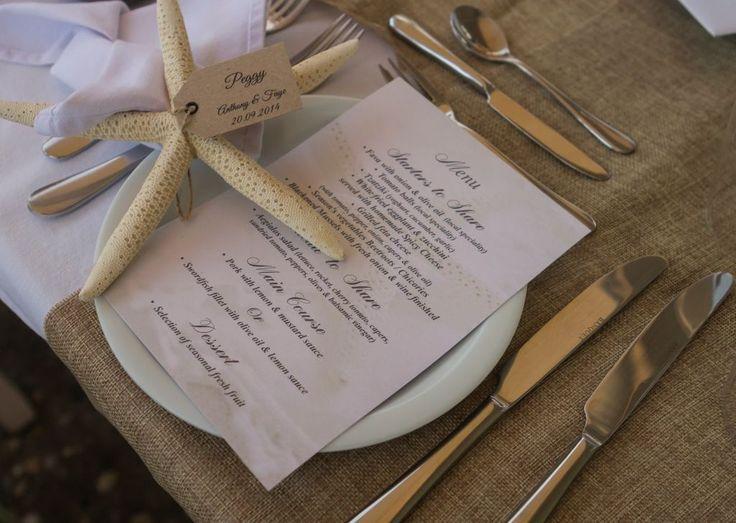 Lovely idea for a beach wedding!