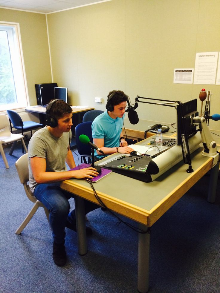 Connor Costello and Jack Yates conducting an interview in one BU's radio studios. Catch the story later at http://buzz.bournemouth.ac.uk/