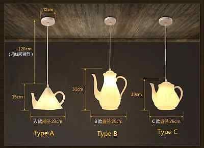 Modern Teapot Pendant E27 Light Ceiling Lamp Novelty Home Cafe Lighting Fixture