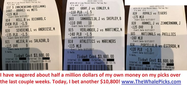 Yesterday I bet $10,800 of my own money on my sports picks!  http://www.TheWhalePicks.com/free  #sportspicks #freepicks #sportsbetting #cbb #ncaab #nba #mlb #nfl #gamble #gambling #thewhalepicks #baseball #basketball #football #bet #bets #betting #wager #sports
