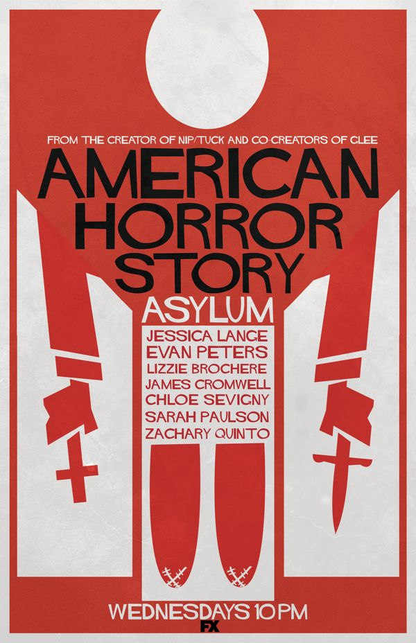 American Horror Story Poster in the Style of Saul Bass by Steph Kilhullen in 100 Fresh Minimal Movie Posters