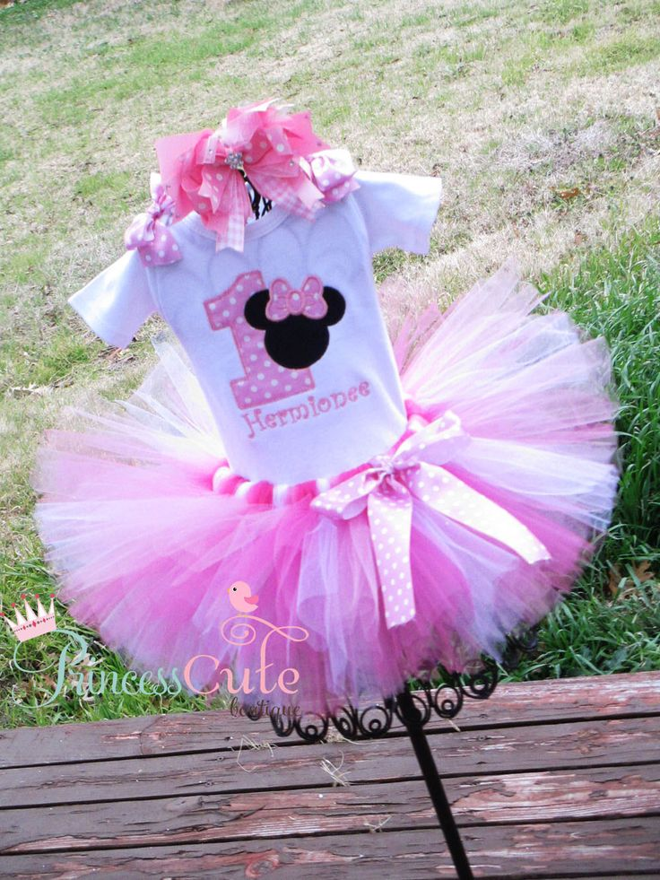 Minnie Mouse 1st Birthday Outfit, Cake Smash, Birthday Photo Props by PrincessCuteBoutique on Etsy https://www.etsy.com/listing/243659893/minnie-mouse-1st-birthday-outfit-cake