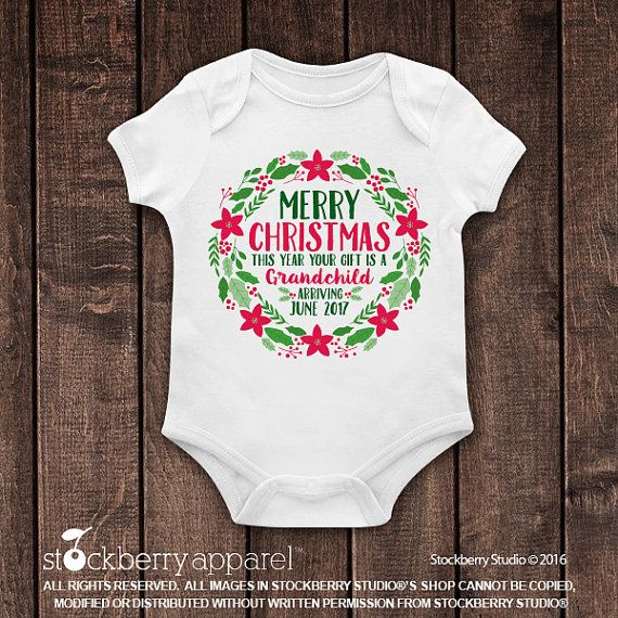 Christmas Pregnancy Announcement to Parents  by stockberryapparel