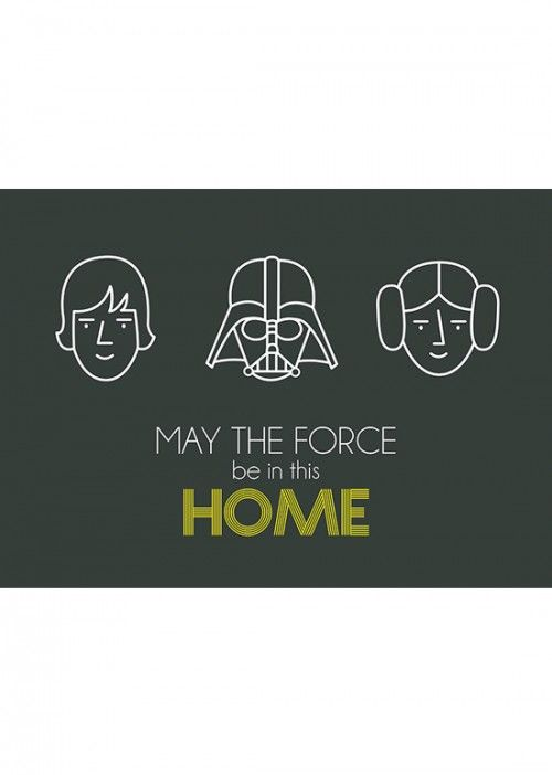 Poster Star Wars - May The Force