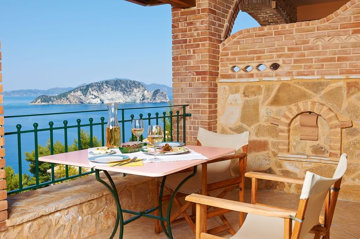 Villas Cavo Marathia - Maisonette Suite for two adults and up to two children - balcony