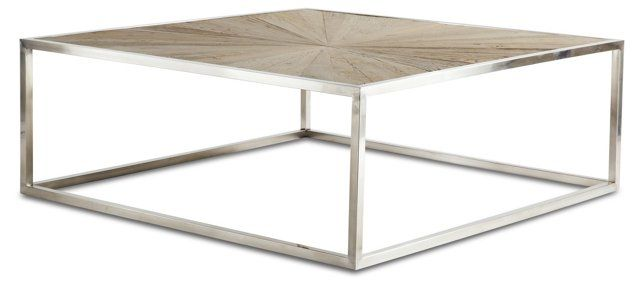 Aix Coffee Table, Weathered Natural