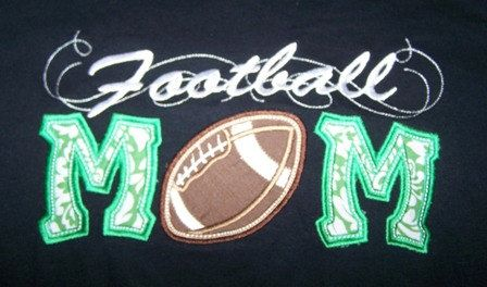 Football Mom Shirt Football Mom School Tshirt by trendyembroidery, $18.00