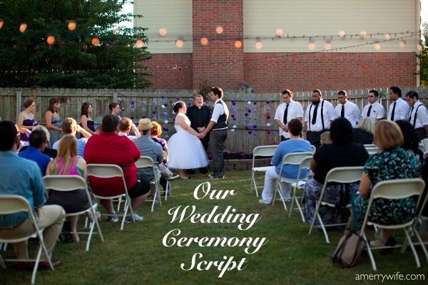 our wedding ceremony script Parties Wedding officiant