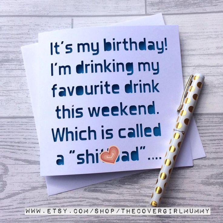 Funny birthday card drinking card boyfriend birthday card card – Drinking Birthday Cards