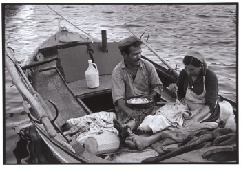 Fisherman and his family, Trikeri, Greece, 1964 - Greek America Foundation; Photograph by Constantine Manos, Magnum Photographer