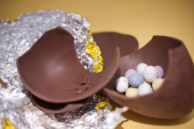 The sweets came inside the Easter Egg, not in a separate packet!.. much more exciting.