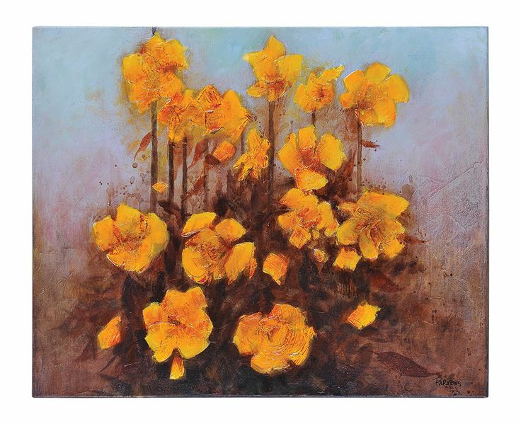 """""""Yellow Blooms"""" by Pierrick Paradis 30 X 24"""""""