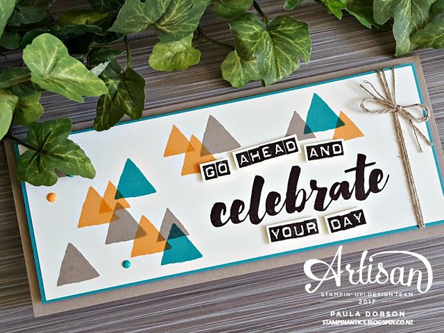Paula Dobson - Stampinantics.  Celebrate your day with Happy Celebrations stamp set for Global Design Project #077. #pauladobson #stampinantics #globaldesignproject #happycelebrations