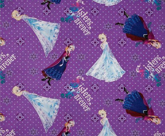 Fat Quarter Disney Frozen Sisters Forever by Petestreasuretrove