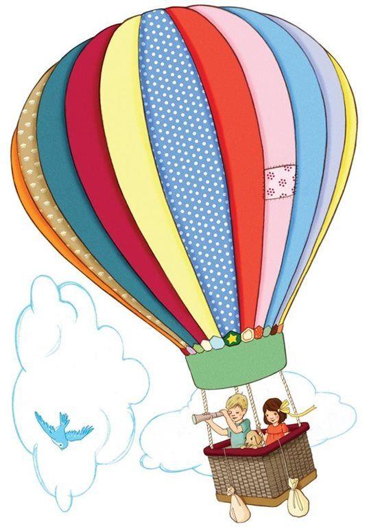 Hot Air Balloon Wall Sticker / Decal