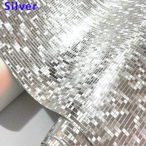 Luxury Glitter Wallpaper Vinyl Mosaic Tiles for Living Room Ceiling Wedding 3D Wall Paper Waterproof papel de parede Gold Silver #GlitterWalls