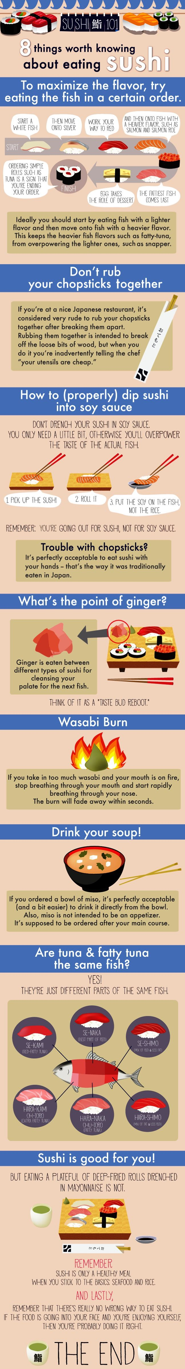 good stuff to know, even if I use ginger on my sushi... helps balance the taste of wasabi
