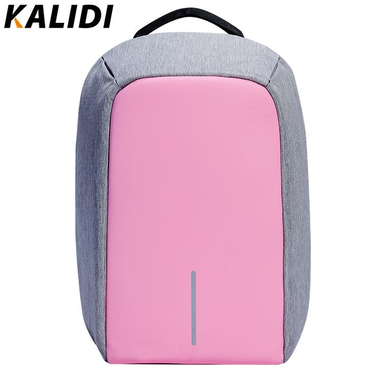 KALIDI Fashion Women Backpack Anti-theft Waterproof Laptop Backpack External USB Charge bag feminine backpack 14 15.6 inch