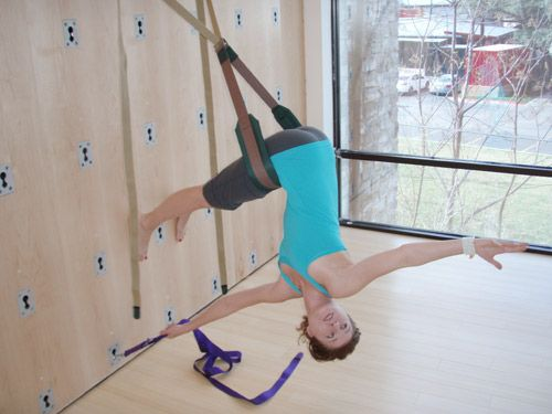 57 Best Images About Iyengar Yoga Rope Wall Standing Poses