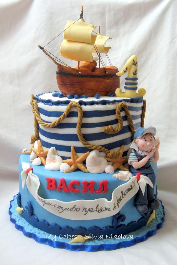Nautical Cake #CakeDecorating