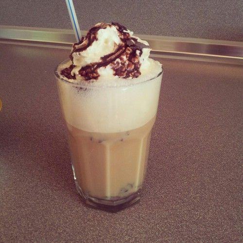 Iced frappé coffee -  frappe,  choc