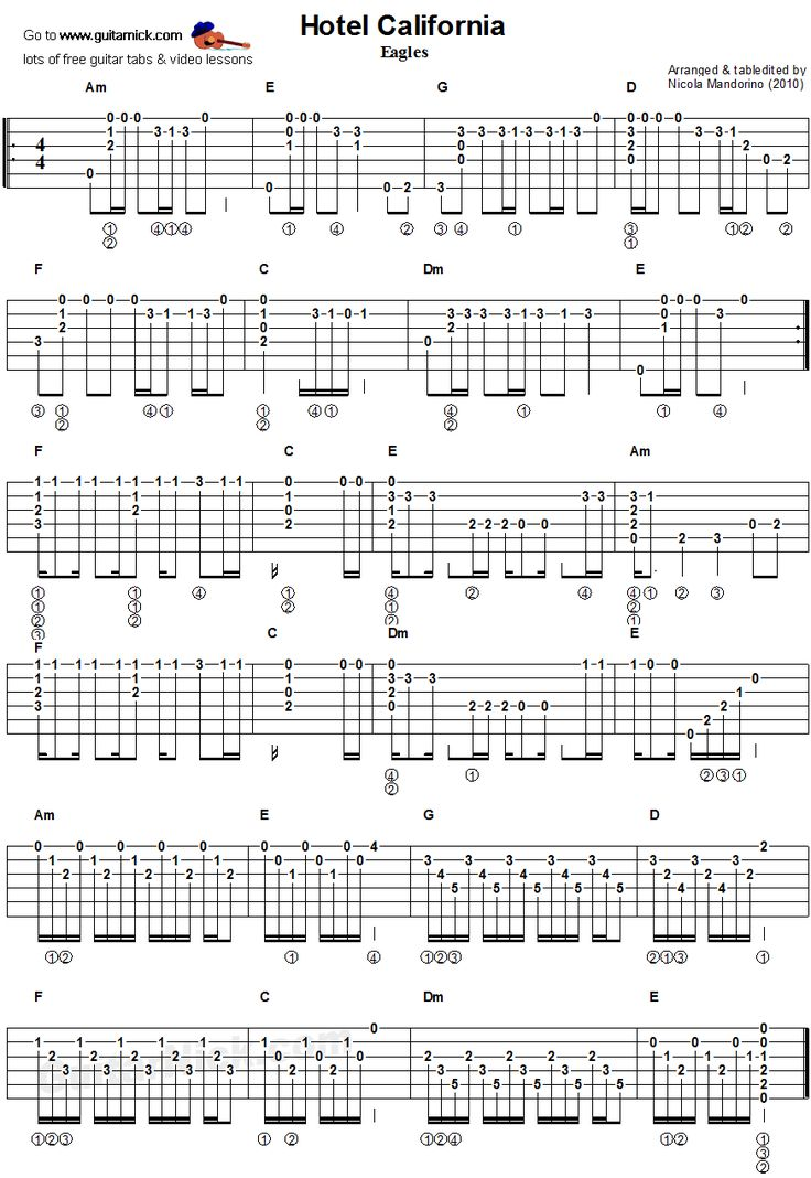 Hotel California Chords By Eagles Ultimateguitarcom 6244434