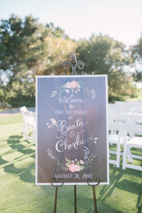 Elegant garden party welcome signage #wedding #gardenparty #diywedding #ceremony #weddingdecor